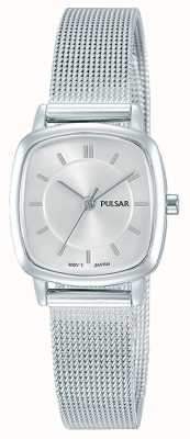 Pulsar Frauen | silbernes Edelstahlgewebe Armband | PH8375X1