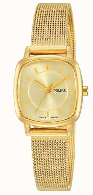 Pulsar Frauen | gold edelstahlgeflecht armband | goldenes Zifferblatt | PH8380X1