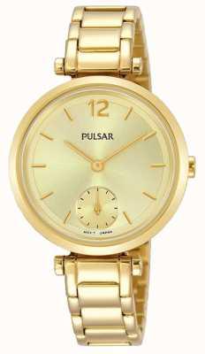 Pulsar Goldfarbenes Armband mit goldfarbenem Zifferblatt PN4068X1