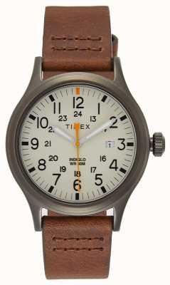 Timex Allied 40 braunes Lederarmband / natürliches Zifferblatt TW2R46400