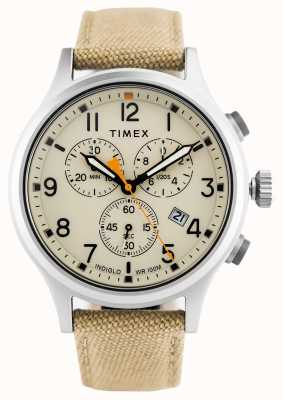 Timex Alloy Chrono Khaki Nylonarmband / natürliches Zifferblatt TW2R47300
