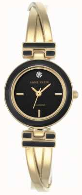 Anne Klein Damen Melanie Goldton Armband schwarzes Zifferblatt AK/N2622BKGB
