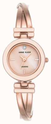 Anne Klein Damen Leah Rose goldfarbenes Armband weißes Zifferblatt AK/N2622WTRG