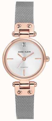 Anne Klein Damenarmband mit silbernem Mesh und Zifferblatt AK/N3003SVRT