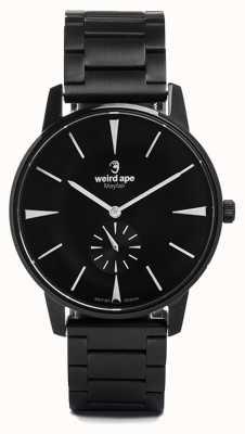Weird Ape Mayfair schwarzes Zifferblatt weiße Marker schwarzes Gliederarmband WA02-005622