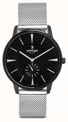 Weird Ape Mayfair schwarzes Zifferblatt weiß Marker Silber Mesh Armband WA02-005625