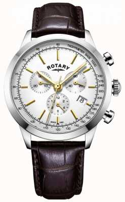 Rotary Herren cambridge Chronograph Leder Uhr GS05253/02