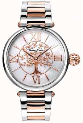 Thomas Sabo Damen Glam und Soul Karma Uhr Roségold und Silber WA0315-272-213-38