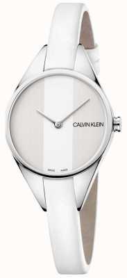 Calvin Klein Damenrebell-Lederarmbanduhr aus dünnem Leder K8P231L6