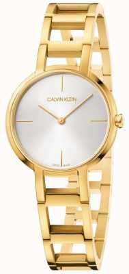 Calvin Klein Damen Beifall Gelbgold Uhr K8N23546