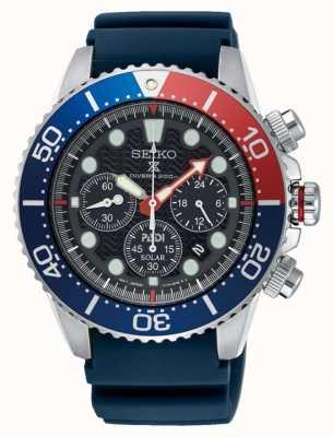 Seiko Männer prospex Meer solarbetriebene Chronograph Uhr blauen Gurt SSC663P1