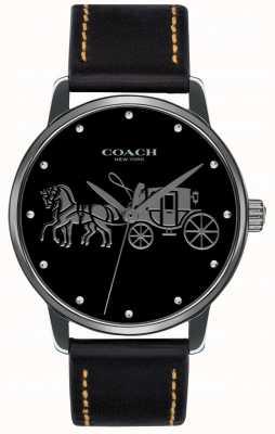 Coach Schwarzes Damen Case & schwarzes Lederband 14502974