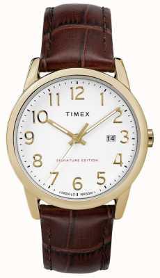 Timex Einfache Lesersignatur mit Datumsanzeige aus 38 mm Leder TW2R65100