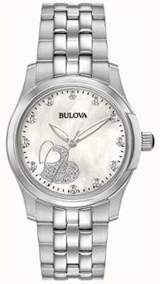 Bulova Klassischer Herz-Edelstahl der Frauen 96P182