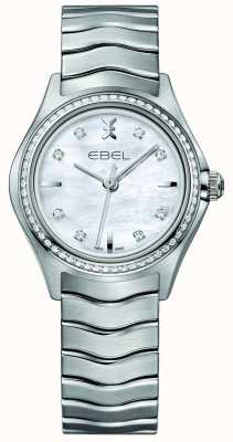 EBEL Welle 30mm Perlmutt Damenuhr Quarz 30mm Set 1216194