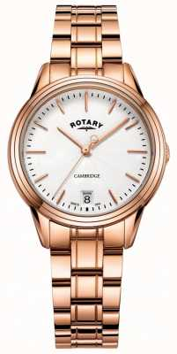 Rotary Damenarmbanduhr aus roségoldfarbenem Armband mit Damenuhr LB05262/06