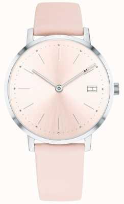 Tommy Hilfiger Damen Pippa Uhr blassrosa Lederband 1781925
