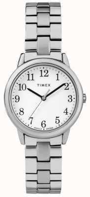 Timex 31mm Edelstahl Band weißes Zifferblatt TW2R58700