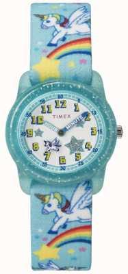 Timex Analoges 28mm aquamarines Regenbogeneinhorn der Jugend TW7C256004E