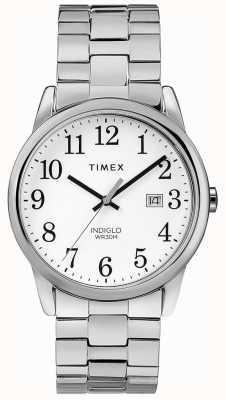 Timex 38mm dehnbares Band aus rostfreiem Stahl mit weißem Zifferblatt TW2R58400