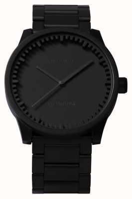Leff Amsterdam Röhrenuhr s38 schwarzes Gehäuse schwarzes Armband LT71102