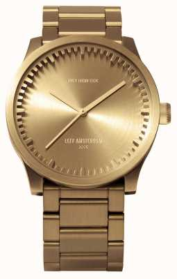 Leff Amsterdam Tube Watch s42 Messinggehäuse Messingarmband LT72103