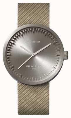 Leff Amsterdam Röhrenuhr d42 Stahlgehäuse Sand Cordura Armband LT72003