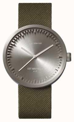 Leff Amsterdam Röhrenuhr d42 Stahlgehäuse grün Cordura Armband LT72004