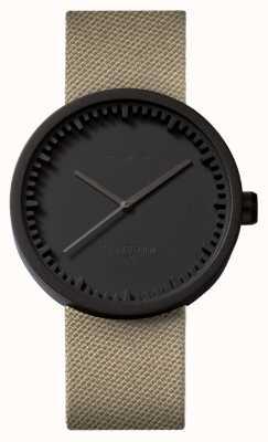 Leff Amsterdam Röhrenuhr d42 schwarz Case Sand Cordura Armband LT72013