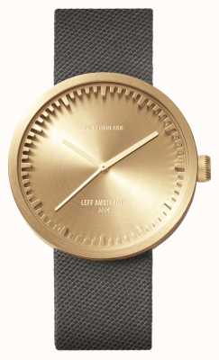 Leff Amsterdam Röhrenuhr d42 Messinggehäuse graues Cordura Armband LT72025