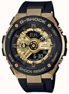 Casio G-Shock G-Stahl schwarz und gold GST-400G-1A9ER