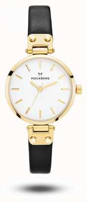 Mockberg Saga petite schwarzes Armband weißes Zifferblatt MO207