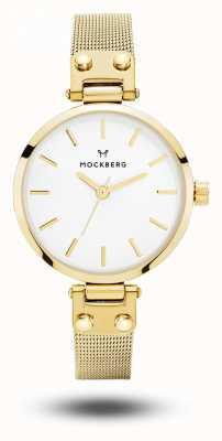 Mockberg Livia petite gold pvd überzogenes Armband weißes Zifferblatt MO401