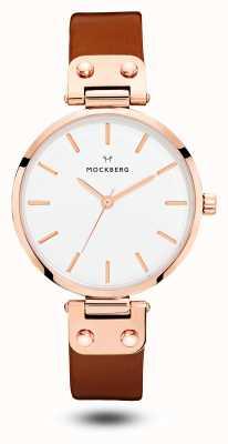 Mockberg Vilde braunes Armband weißes Zifferblatt MO109