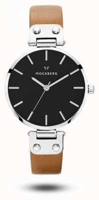 Mockberg Frauen wera schwarz braunes Armband schwarzes Zifferblatt MO112