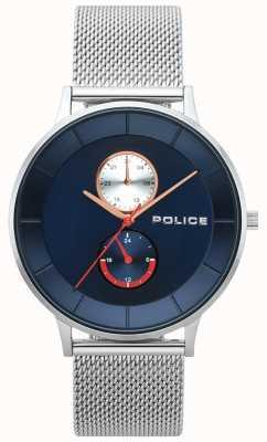 Police Mens Berkeley Stahl Mesh Uhr 15402JS/03MM