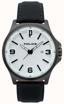 Police Herren Clan schwarz Lederuhr 15384JSU/04