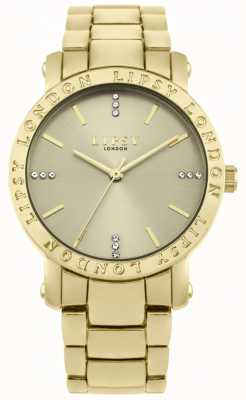 Lipsy Damen Gold Zifferblatt, goldene Armbanduhr LP566