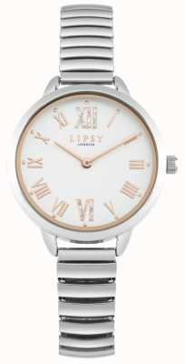 Lipsy Damen erweiterbare silberne Armbanduhr LP578