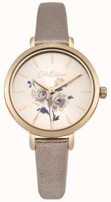 Cath Kidston Metallic-Roségold-Armbanduhr der Dameninsel-Bündel CKL049RG