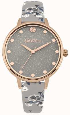 Cath Kidston Graue Armbanduhr der glittery Inselgruppe der Frauen CKL056ERG