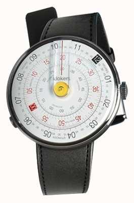 Klokers Klok 01 gelber Uhrenkopf schwarzer Satin einzelner Bügel KLOK-01-D1+KLINK-01-MC1