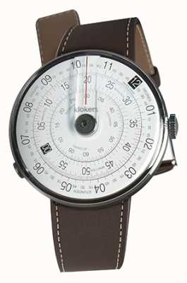 Klokers Klok 01 schwarzer Uhrenkopf schokobrauner Einzelarmband KLOK-01-D2+KLINK-01-MC4