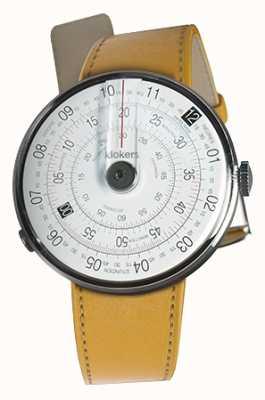 Klokers Klok 01 schwarzer Uhrenkopf Newport gelber Einzelarmband KLOK-01-D2+KLINK-01-MC7.1