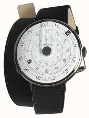 Klokers Klok 01 schwarze Uhrenkopfmatte schwarz 380mm Doppelarmband KLOK-01-D2+KLINK-02-380C2