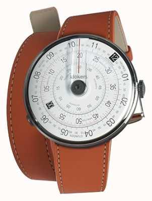 Klokers Klok 01 schwarzer Uhrenkopf orange 420mm Doppelgurt KLOK-01-D2+KLINK-02-420C8