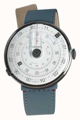 Klokers Klok 01 schwarz Uhrenkopf blau Jean Strait einzigen Gurt KLOK-01-D2+KLINK-04-LC10