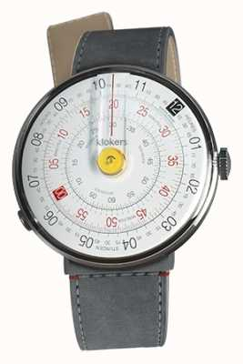 Klokers Klok 01 gelb Uhrenkopf grau Alcantara Strait Einzelgurt KLOK-01-D1+KLINK-04-LC11