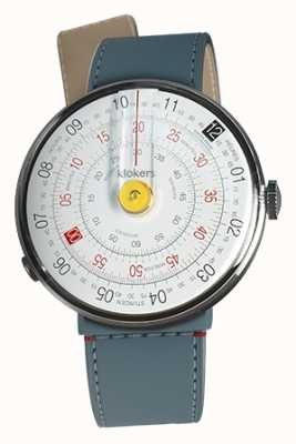 Klokers Klok 01 gelb Uhrenkopf blau Jean Strait einzigen Riemen KLOK-01-D1+KLINK-04-LC10