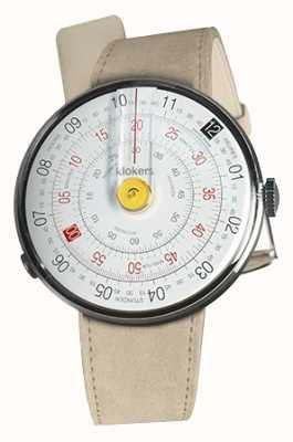 Klokers Klok 01 gelber Uhrenkopf grauer Alcantara einzelner Bügel KLOK-01-D1+KLINK-01-MC6